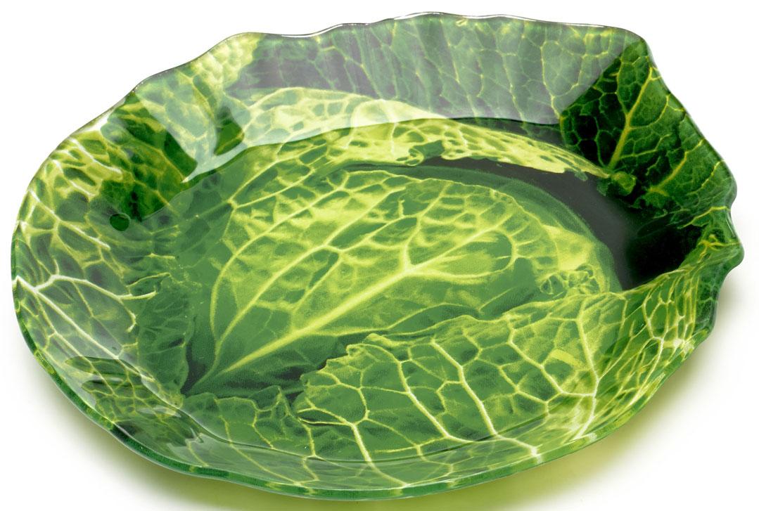 Блюдо Walmer Cabbage, 17 x 18 см115510Сервировочное блюдо Walmer Cabbage изготовлено из высококачественного стекла в виде капусты. Краска впечатана в стекло с обратной стороны блюда, что исключает ее контакт с пищей.Блюдо - необходимая вещь при застолье. Вы можете использовать его для закусок, сырной нарезки, колбасных изделий и, конечно, горячих блюд. Изумительное сервировочное блюдо станет изысканным украшением вашего праздничного стола.