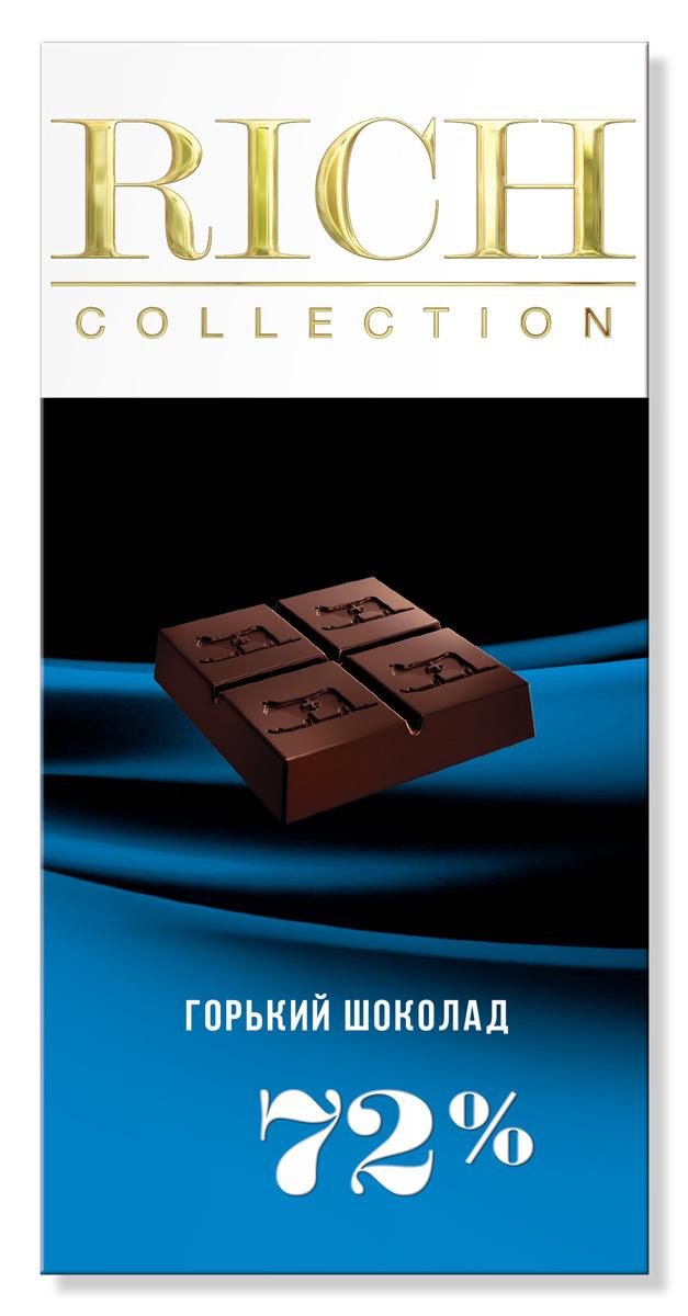 Rich Шоколад горький, 70 г0120710Для ценителей горького шоколада был создан шоколад с высоким содержанием какао на основе отборных бобов сорта Criollo.