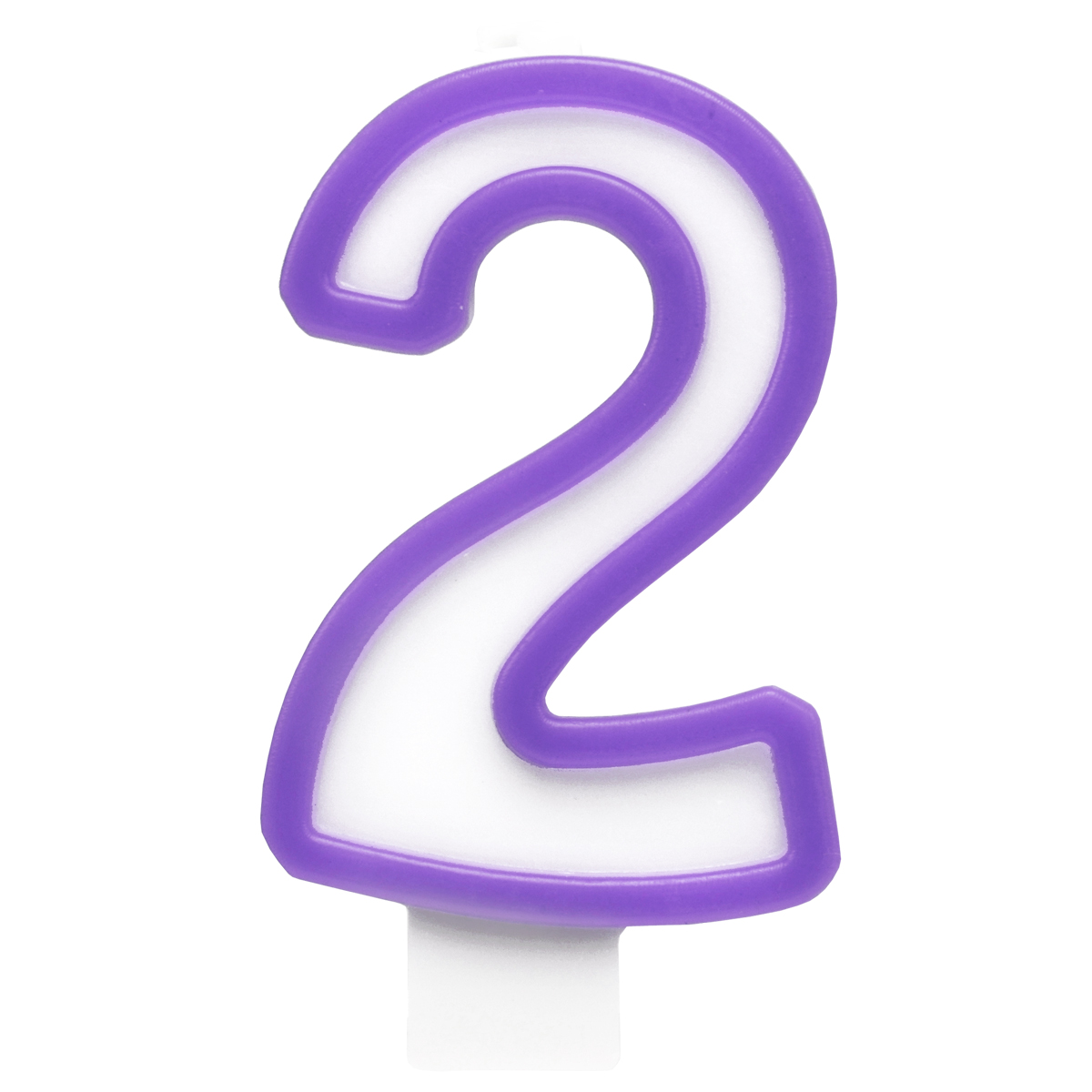 Action! Свеча-цифра для торта 2 года цвет фиолетовый