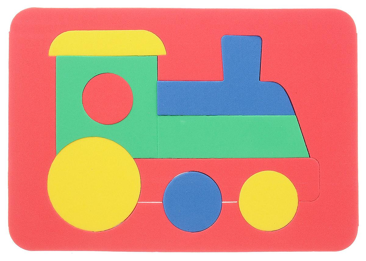 Бомик Пазл для малышей Паровоз цвет основы красный бомик пазл для малышей собака