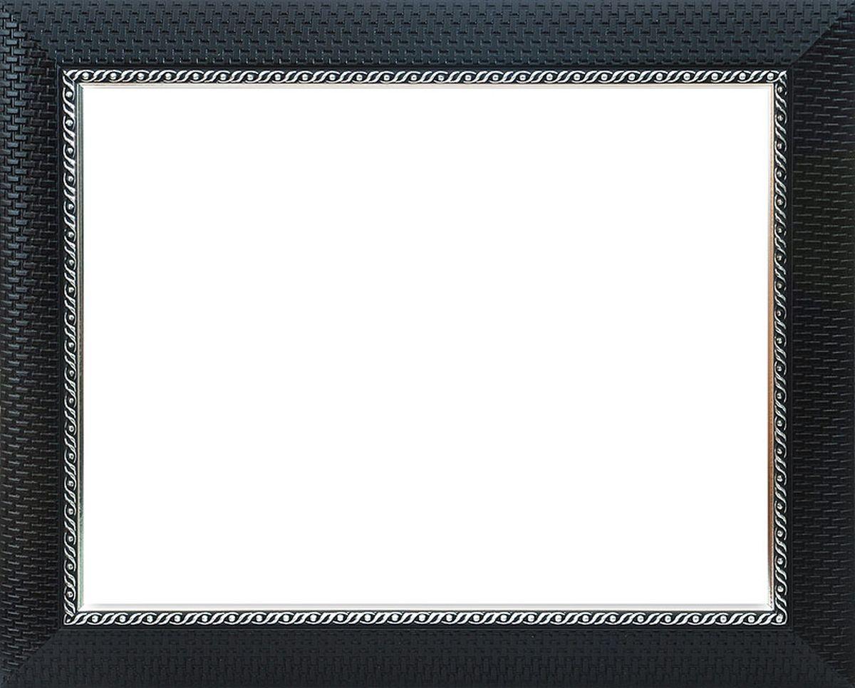 Рама багетная Белоснежка Regina, цвет: черный, серебряный, 40 х 50 см300144Багетная рама Белоснежка Regina изготовлена из пластика, окрашенного в черный цвет. Багетные рамы предназначены для оформления картин, вышивок и фотографий.Если вы используете раму для оформления живописи на холсте, следует учесть, что толщина подрамника больше толщины рамы и сзади будет выступать, рекомендуется дополнительно зафиксировать картину клеем, лист-заглушку в этом случае не вставляют. В комплект входят рама, два крепления на раму, дополнительный держатель для холста, подложка из оргалита, инструкция по использованию.
