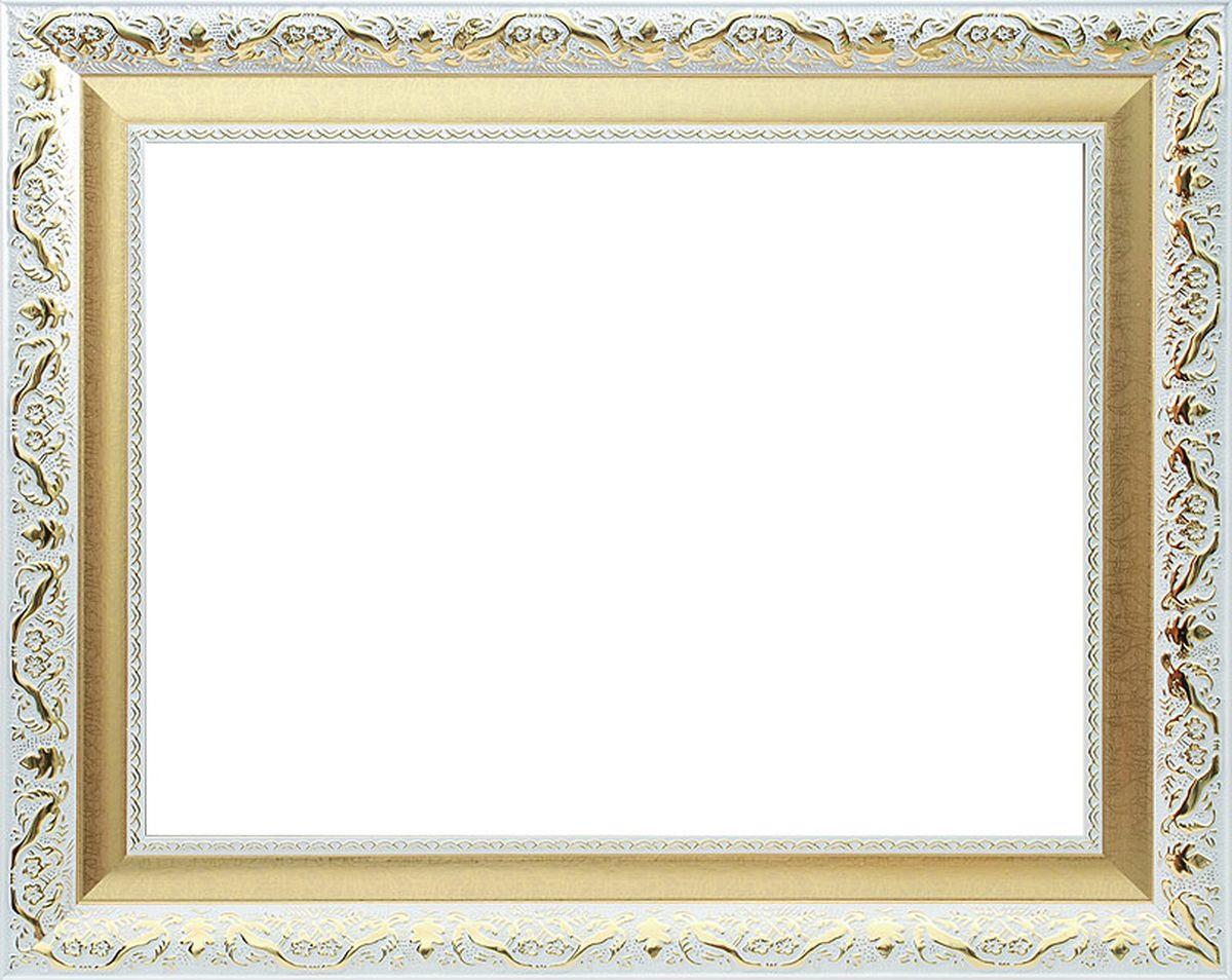 Рама багетная Белоснежка Patricia, цвет: белый, золотой, 40 х 50 см2345-BBБагетная рама Белоснежка Patricia изготовлена из пластика, окрашенного в белый цвет. Багетные рамы предназначены для оформления картин, вышивок и фотографий.Если вы используете раму для оформления живописи на холсте, следует учесть, что толщина подрамника больше толщины рамы и сзади будет выступать, рекомендуется дополнительно зафиксировать картину клеем, лист-заглушку в этом случае не вставляют. В комплект входят рама, два крепления на раму, дополнительный держатель для холста, подложка из оргалита, инструкция по использованию.