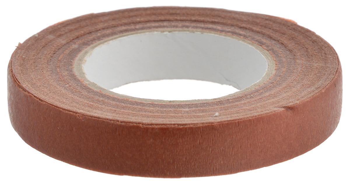 Лента флористическая Fleur, цвет: коричневый, 13 мм х 27 мRSP-202SФлористическая лента Fleur - это тонкая эластичная лента в катушке с легким клеящим эффектом. Она липкая, тонкая, легкая, водонепроницаемая, хорошо растягивается. Лента бывает широкой и узкой. Широкая лента в основном используется для крепления к сосуду флористической губки, узкой лентой также иногда перекрещивается отверстие широкогорлового сосуда для закрепления растений. Флористическая лента может использоваться в квиллинге при изготовлении цветов на проволоке, конфетных деревьев, украшений из бисера, различного декора. В основном лента применяется для декорирования проволоки в букетах в соответствии с цветом букета. При намотке флористическую ленту необходимо немного натягивать, чтобы она лучше прилипала к стеблю цветка. Особенности флористической ленты: - Легко разглаживается и плотно прилегает к поверхности,- Принимает любую форму,- Позволяет продлить свежесть цветка, поэтому необходима при создании свадебных букетов и других аксессуаров из цветов,- Лентой можно загрунтовать гладкую поверхность перед закреплением на ней флористической композиции, чтобы фиксация последней была устойчивой.Ширина ленты: 13 мм.Длина ленты: 27 м.