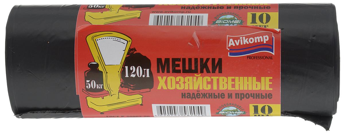 Мешки хозяйственные Avikomp, цвет: черный, до 50 кг, 120 л, 10 шт71816Хозяйственные мешки Avikomp предназначены для сбора объемного мусора, транспортировки крупногабаритных изделий и предметов весом до 50 кг. Изготовлены из надежного и прочного полиэтилена низкого давления.Максимальная нагрузка: 50 кг.Объем мешков: 120 л.
