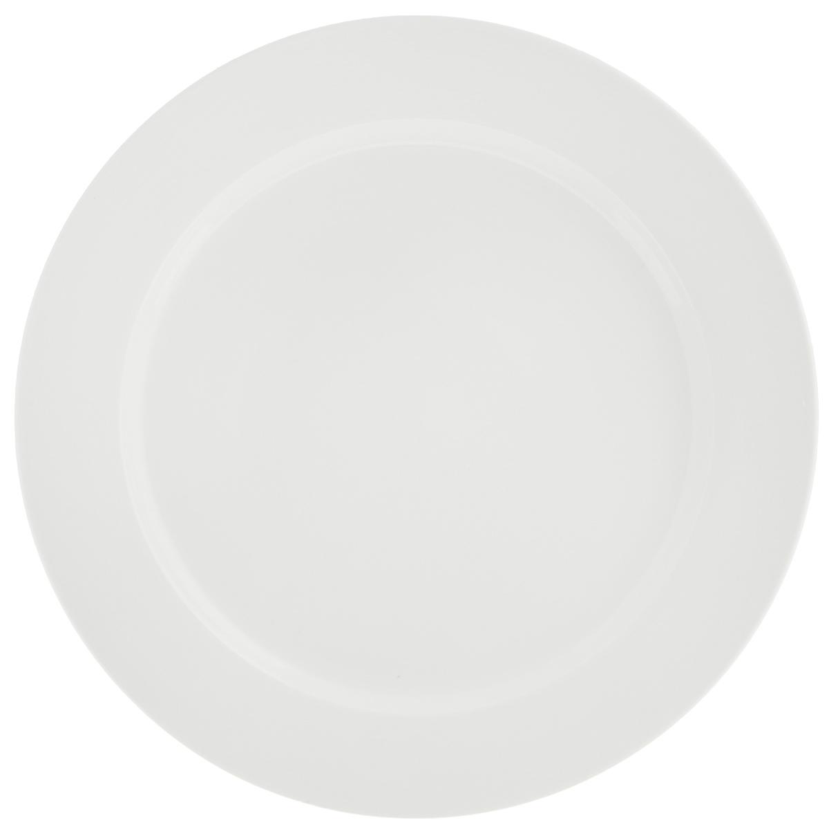 Тарелка Tescoma Opus Stripes, диаметр 27 см385124Тарелка Tescoma Opus Stripes выполнена из высококачественного фарфора однотонного цвета и прекрасно подойдет для вашей кухни. Такая тарелка изысканно украсит сервировку как обеденного, так и праздничного стола. Предназначена для подачи вторых блюд. Пригодна для использования в микроволновой печи. Можно мыть в посудомоечной машине.Диаметр: 27см.Высота тарелки: 2,5 см.