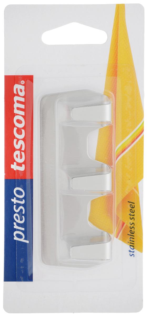 Крючок Tescoma PrestoBL505Крючок Tescoma Presto отлично подходит для подвешивания кухонных полотен, рукавиц, жаропрочных подставок, фартука. Изготовлен из высококачественной нержавеющей стали и оснащен клеевым слоем высокого качества.