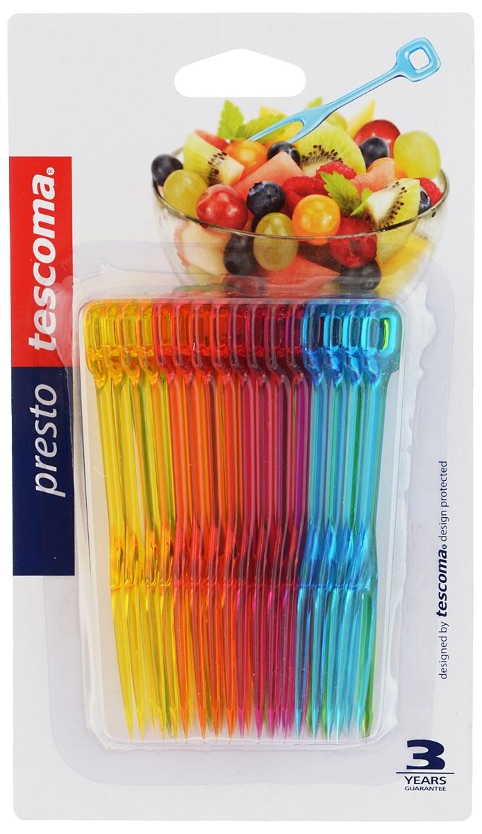 Набор вилок Tescoma Presto. Party, 20 шт. 420981662065_золотистыйВилки Tescoma Presto. Party отлично подходят для сервировки канапе, фруктов, овощей и других блюд. Изделия выполнены из прочного пластика. Можно мыть в посудомоечной машине.В набор входят 20 вилок.Длина вилок: 11 см.
