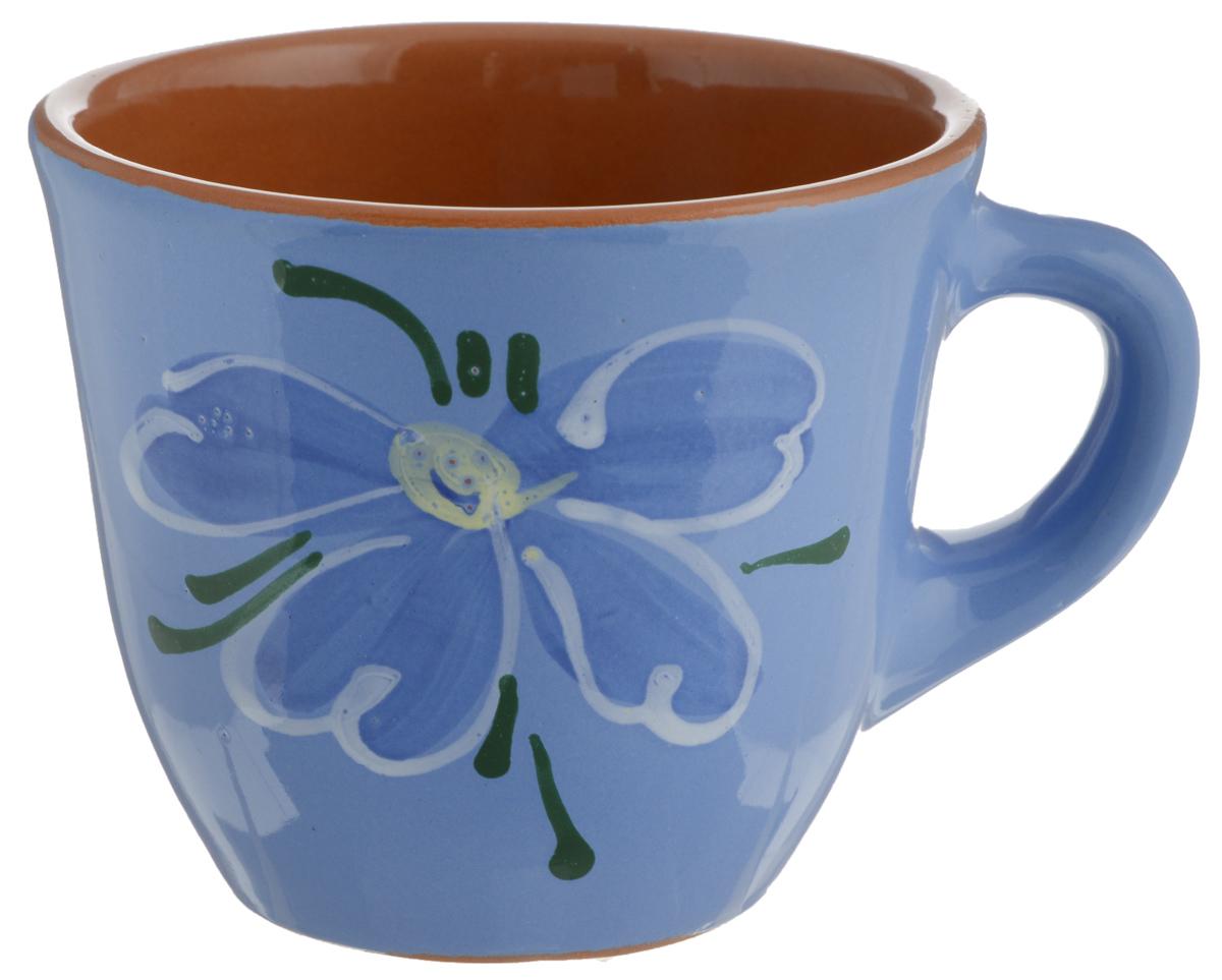 Чашка Борисовская керамика Стандарт, 300 мл9272870Удобная чашка Борисовская керамика Стандарт предназначена для повседневного использования. Она выполнена из высококачественной глины. Природные свойства этого материала позволяют долго сохранять температуру напитка, даже, если вы пьете что-то холодное. Внешние стенки чашки оформлены изображением цветка.Диаметр чашки (по верхнему краю): 10 см.Диаметр основания: 5,5 см.Высота чашки: 8,5 см.