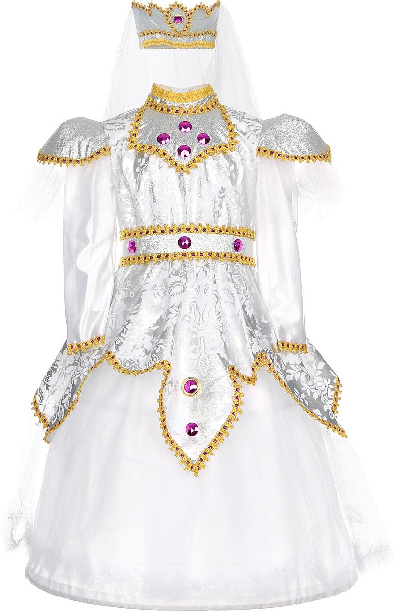 Rio Карнавальный костюм Царевна цвет белый розовый размер 116-122 костюм гусара детский на рост 116 в минске