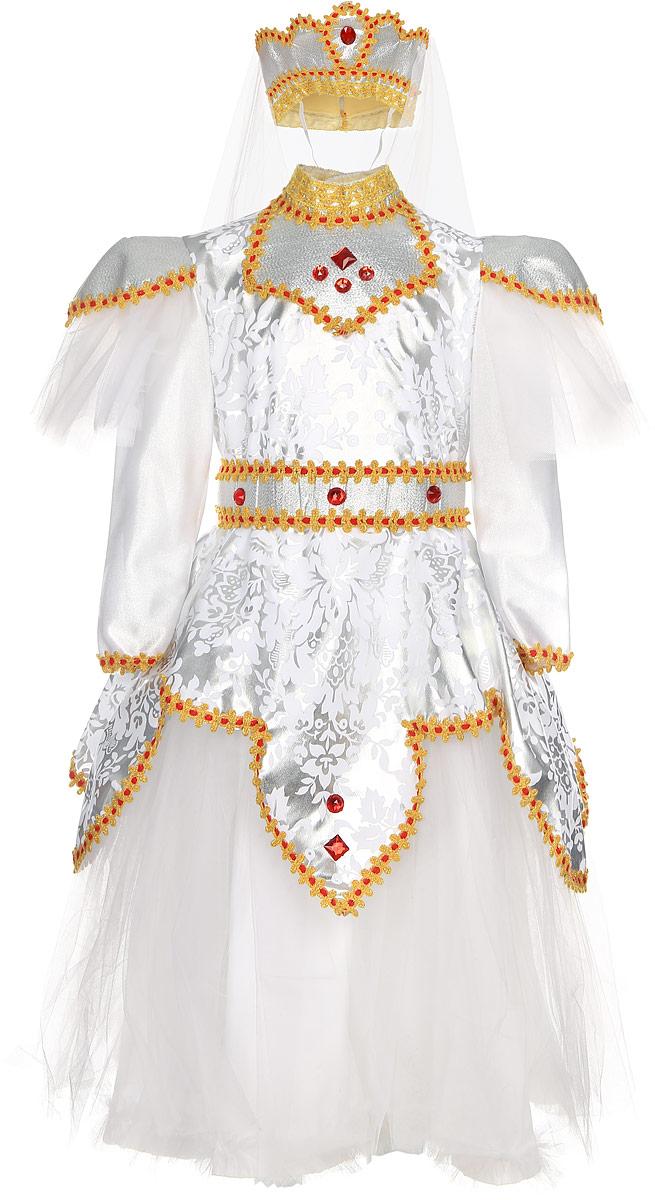 Rio Карнавальный костюм Царевна цвет белый красный размер 116-122 костюм гусара детский на рост 116 в минске