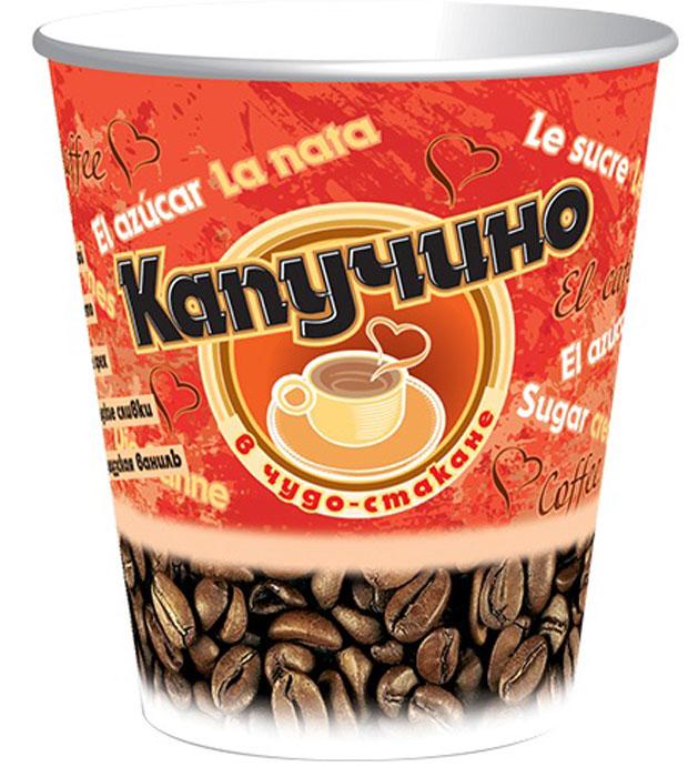 Чудо-Стакан Капучино Ореховый кофейный напиток, 10 стаканов по 24 г