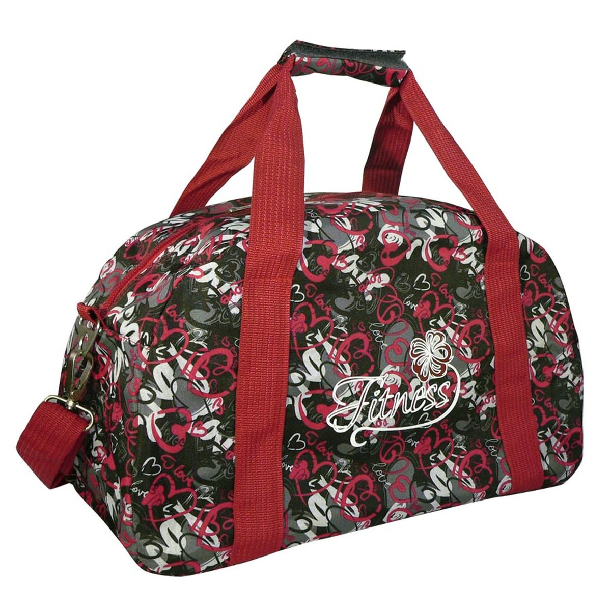 Сумка спортивная Polar, цвет: серый, красный, 20 л. 5997 сумка спортивная polar цвет темно синий 46 5 л 5986