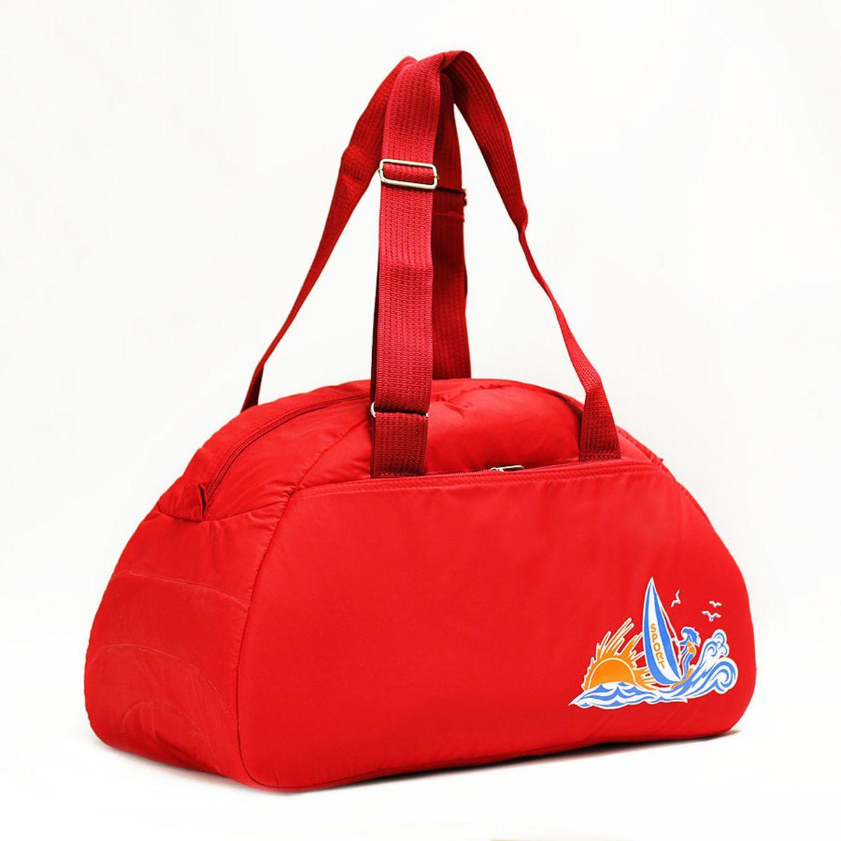 Сумка спортивная Polar, цвет: красный, 28 л. 6020MABLSEH10001Спортивная сумка Polar выполнена из полиэстера. Сумка имеет одно большое отделение, внутри которого расположен один карман на молнии. Снаружи один большой карман на молнии. Длина ручек регулируется по необходимой длине, что позволяет носить сумку как в руках, так и на плече. Максимальная высота ручек - 35 см. Съемного плечевого ремня нет.