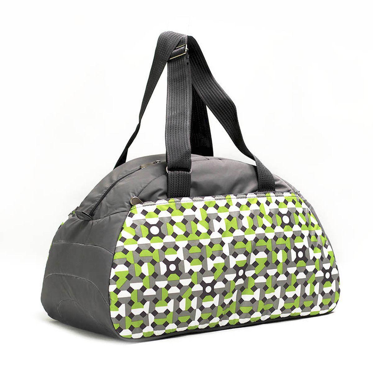 Сумка спортивная  Polar , цвет: серый, зеленый, 28 л. 6020 - Дорожные сумки