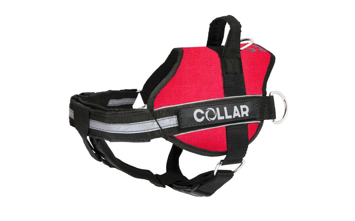 Шлейка Dog Extremе POLICE №2, цвет: красный, обхват груди: 40-60 смWD3032Шлея Dog Extremе POLICE №2 (В:40-60см) красная