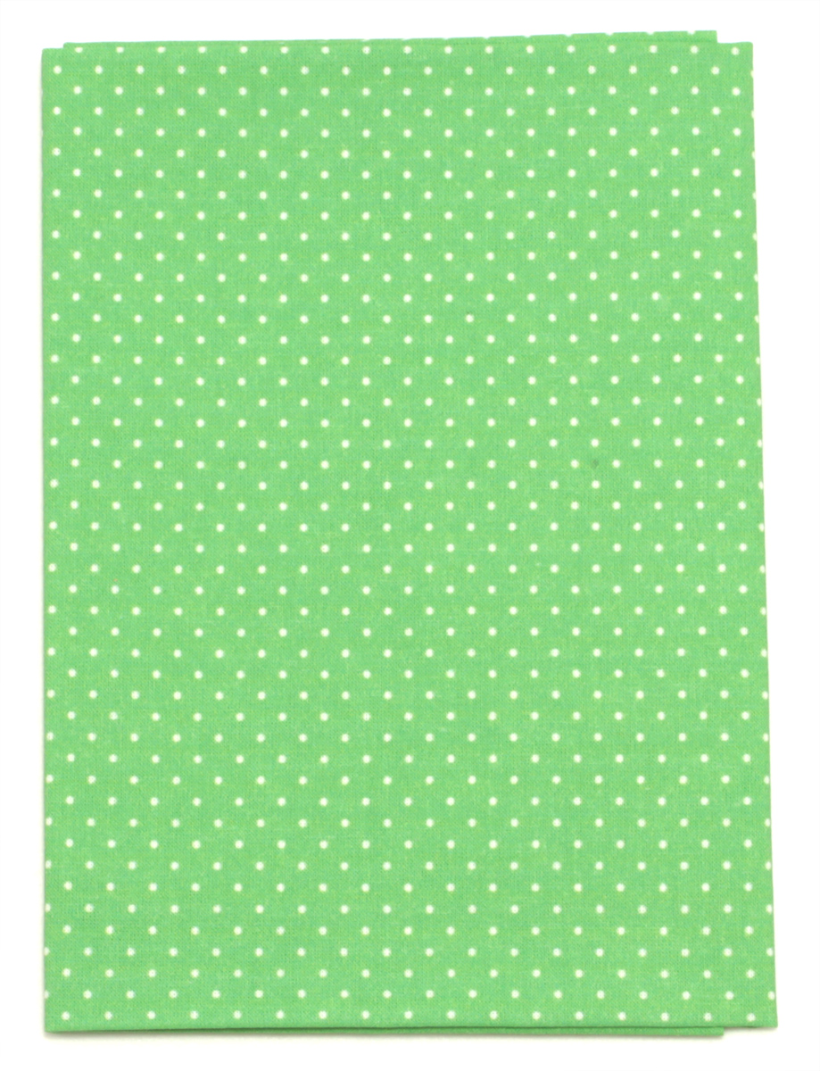 Ткань Кустарь Мелкий горошек, цвет: ярко-зеленый, 48 х 50 см. AM55500841881Ткань Кустарь - это высококачественная ткань из 100% хлопка, которая отлично подходит для пошива покрывал, сумок, панно, одежды, кукол. Также подходит для рукоделия в стиле скрапбукинг и пэчворк.Плотность ткани:120 г/м2. Размер: 48 х 50 см.