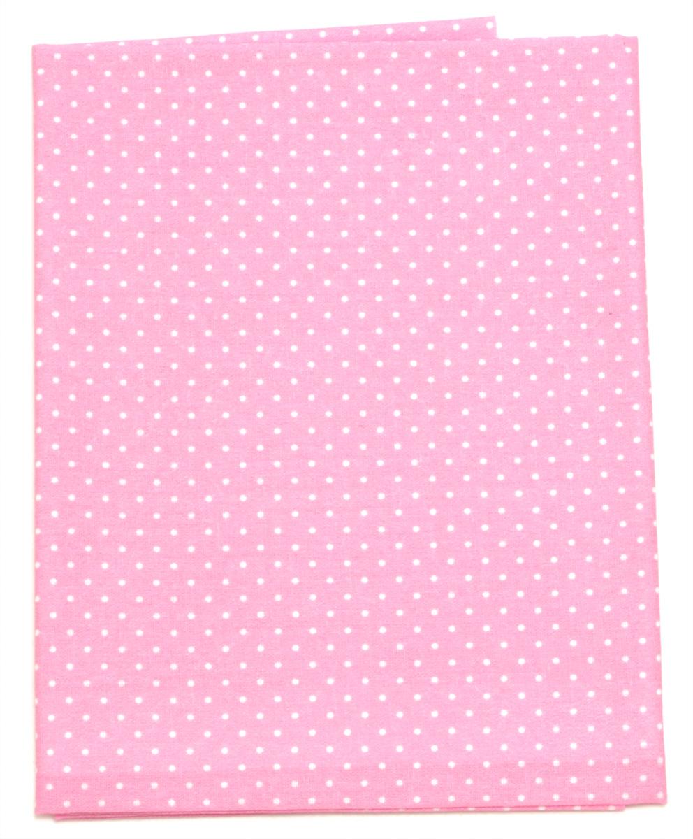 Ткань Кустарь Горошек 2 мм, цвет: розовый, 48 х 50 см. AM556022CPD0588Ткань Кустарь - это высококачественная ткань из 100% хлопка, которая отлично подходит для пошива покрывал, сумок, панно, одежды, кукол. Также подходит для рукоделия в стиле скрапбукинг и пэчворк.Плотность ткани:120 г/м2. Размер: 48 х 50 см.