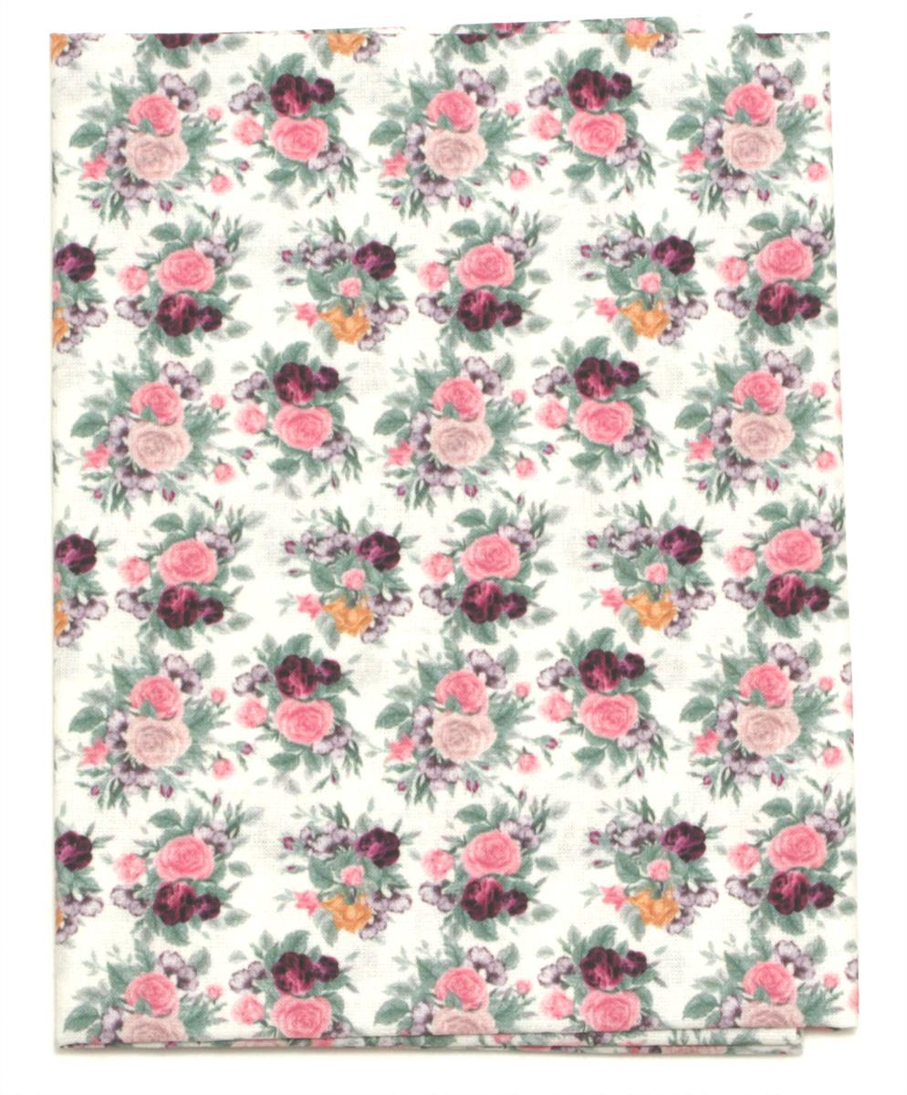 Ткань Кустарь Старинные розы, 48 х 50 см. AM560001C0038550Ткань Кустарь - это высококачественная ткань из 100% хлопка, которая отлично подходит для пошива покрывал, сумок, панно, одежды, кукол. Также подходит для рукоделия в стиле скрапбукинг и пэчворк.Плотность ткани: 120 г/м2. Размер: 48 х 50 см.