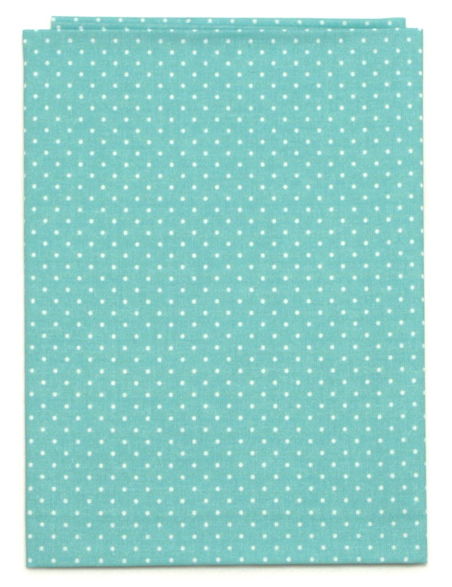 Ткань Кустарь Мелкий горошек, цвет: мятный, 48 х 50 см. AM5550127718299Ткань Кустарь - это высококачественная ткань из 100% хлопка, которая отлично подходит для пошива покрывал, сумок, панно, одежды, кукол. Также подходит для рукоделия в стиле скрапбукинг и пэчворк.Плотность ткани:120 г/м2. Размер: 48 х 50 см.