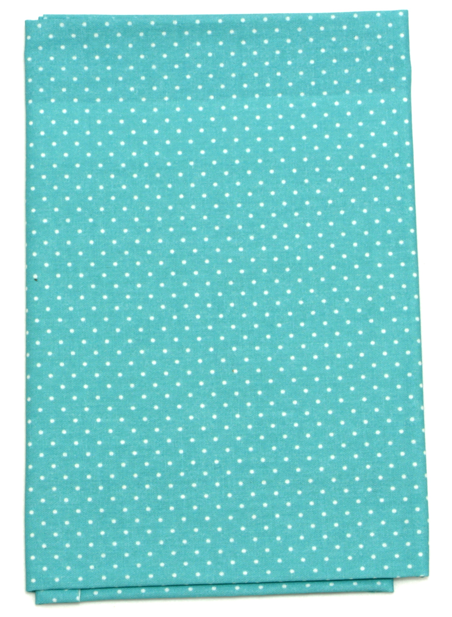 Ткань Кустарь Мелкий горошек, цвет: бирюзовый, 48 х 50 см. AM555013C0042416Ткань Кустарь - это высококачественная ткань из 100% хлопка, которая отлично подходит для пошива покрывал, сумок, панно, одежды, кукол. Также подходит для рукоделия в стиле скрапбукинг и пэчворк.Плотность ткани:120 г/м2. Размер: 48 х 50 см.