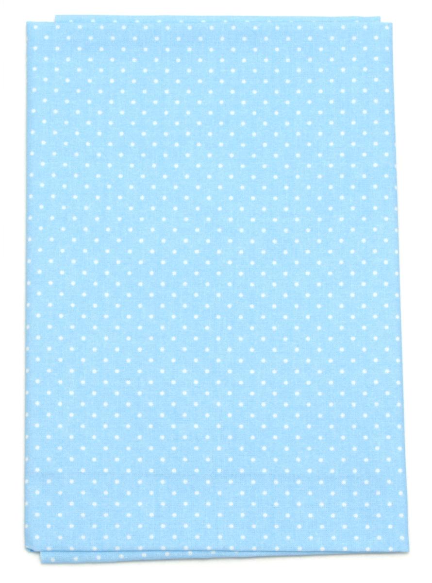 Ткань Кустарь Мелкий горошек, цвет: голубой, 48 х 50 см. AM555019S03201004Ткань Кустарь - это высококачественная ткань из 100% хлопка, которая отлично подходит для пошива покрывал, сумок, панно, одежды, кукол. Также подходит для рукоделия в стиле скрапбукинг и пэчворк.Плотность ткани:120 г/м2. Размер: 48 х 50 см.