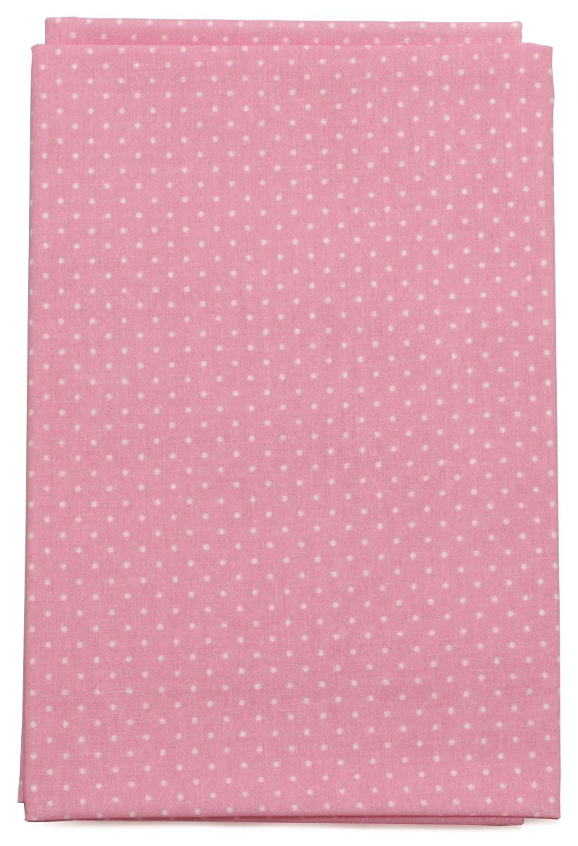 Ткань Кустарь Мелкий горошек, цвет: розовый, 48 х 50 см. AM555022RSP-202SТкань Кустарь - это высококачественная ткань из 100% хлопка, которая отлично подходит для пошива покрывал, сумок, панно, одежды, кукол. Также подходит для рукоделия в стиле скрапбукинг и пэчворк.Плотность ткани:120 г/м2. Размер: 48 х 50 см.