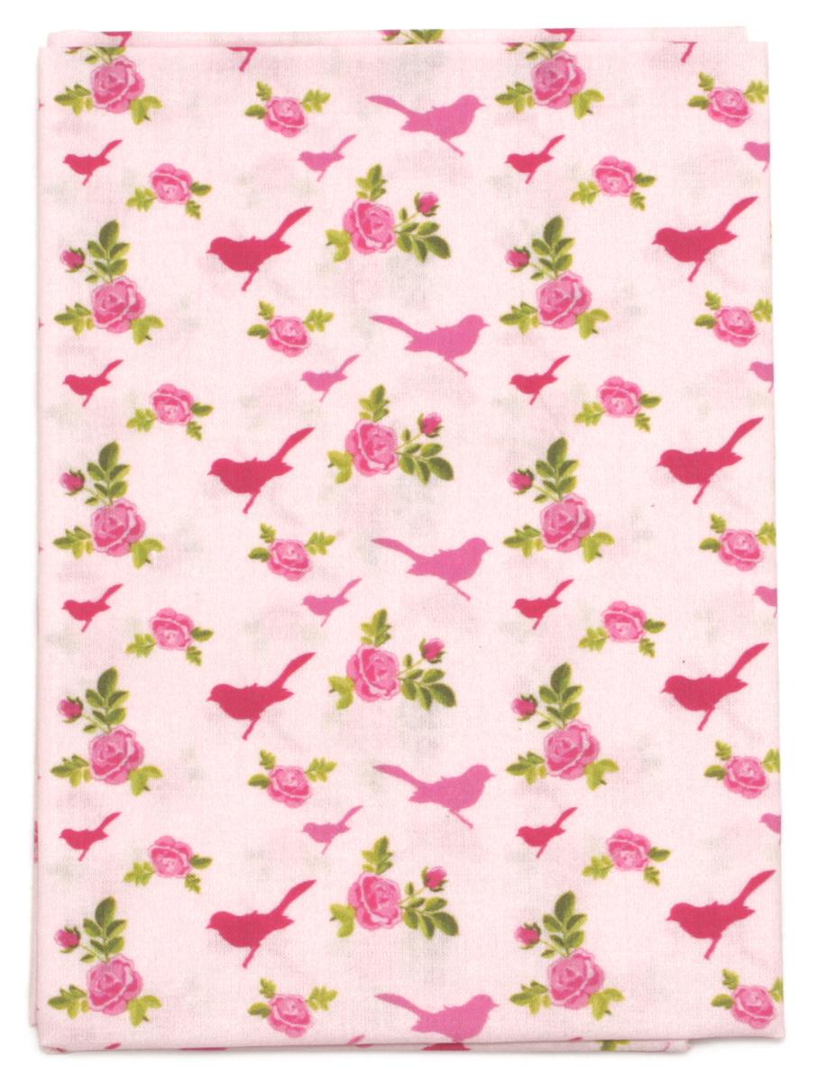 Ткань Кустарь Птички и сердечки №2, 48 х 50 см. AM558010SS 4041Ткань Кустарь - это высококачественная ткань из 100% хлопка, которая отлично подходит для пошива покрывал, сумок, панно, одежды, кукол. Также подходит для рукоделия в стиле скрапбукинг и пэчворк.Плотность ткани:120 г/м2. Размер: 48 х 50 см.