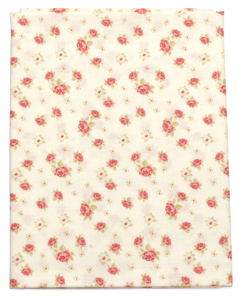 Ткань Кустарь Розы в стиле шебби шик №1, 48 х 50 см. AM586001NLED-454-9W-BKТкань Кустарь - это высококачественная ткань из 100% хлопка, которая отлично подходит для пошива покрывал, сумок, панно, одежды, кукол. Также подходит для рукоделия в стиле скрапбукинг и пэчворк.Плотность ткани:120 г/м2. Размер: 48 х 50 см.