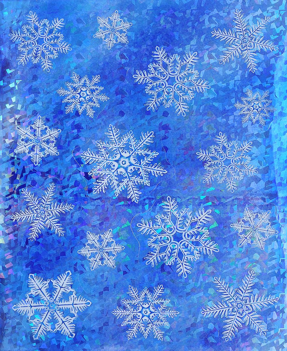 Украшение новогоднее оконное Winter Wings Снежинки, 16 шт19201Новогоднее оконное украшение Winter Wings Снежинки поможет украсить дом к предстоящим праздникам. Наклейки изготовлены из ПВХ и выполнены в виде снежинок.С помощью этих украшений вы сможете оживить интерьер по своему вкусу, наклеить их на окно, на зеркало или на дверь.Новогодние украшения всегда несут в себе волшебство и красоту праздника. Создайте в своем доме атмосферу тепла, веселья и радости, украшая его всей семьей.Размер листа: 38 х 30 см. Средний диаметр наклейки: 9 см.