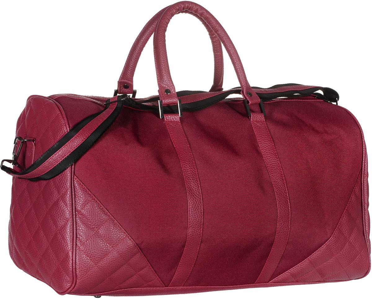 Сумка дорожная Аntan, цвет: красный. 2-26188U*09001Вместительная дорожная сумка Аntan выполнена из искусственной кожи и текстиля. Изделие имеет одно отделение, которое закрывается на застежку-молнию. Внутри находится прорезной карман на застежке-молнии. Сумка оснащена двумя удобными ручками. В комплект входит съемный регулируемый плечевой ремень. Основание изделия защищено от повреждений металлическими ножками.