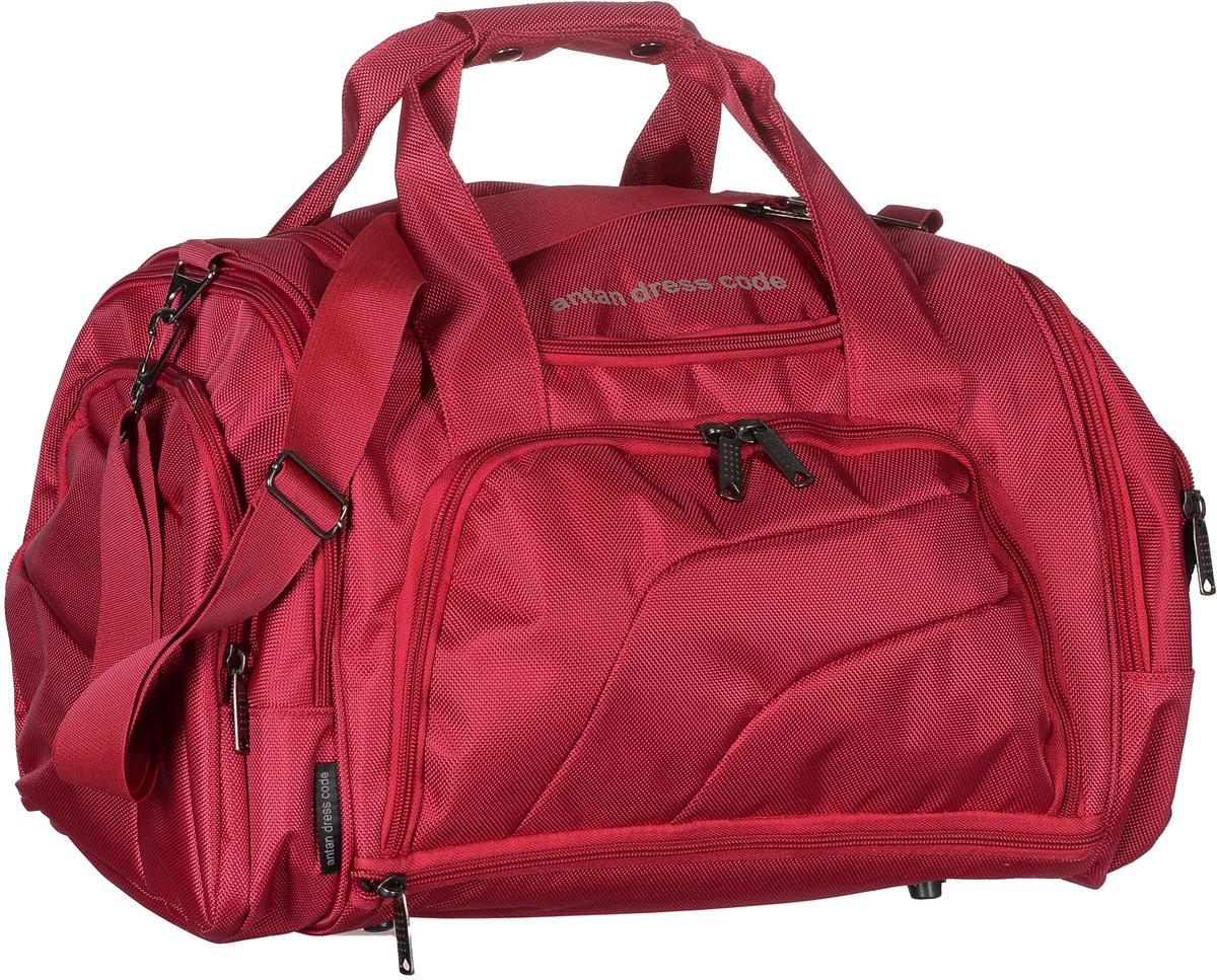 Сумка дорожная Аntan, цвет: красный. 2-159332515-2800Вместительная дорожная сумка Аntan выполнена из полиэстера. Изделие имеет одно отделение, которое закрывается на застежку-молнию. Снаружи, на передней стенке расположен накладной карман на застежке-молнии, внутри которого предусмотрен накладной сетчатый карман, по бокам - четыре накладных кармана на застежках-молниях, сверху - прорезной карман на застежке-молнии. Основание изделия оснащено карманом на застежке-молнии. Сумка дополнена двумя удобными ручками. В комплект входит съемный регулируемый плечевой ремень. Основание изделия защищено от повреждений пластиковыми ножками.
