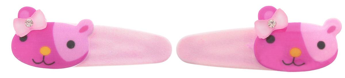Baby's Joy Заколка для волос Кошка цвет розовый малиновый 2 шт