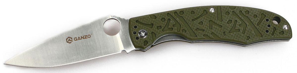 Нож туристический Ganzo, цвет: зеленый, стальной, длина лезвия 9,5 см. G7321G7321-GRНож Ganzo - отличный пример удачного сочетания дизайна и практических качеств. Он подходит рыбакам, туристам, может быть полезен как во время отдыха в кемпинге, так и в городе. Изготовлен нож из хорошей нержавеющей стали и высокопрочного композитного пластика.Нож подойдет для рыбаков, туристов, охотников, спортсменов-экстрималов и многих других пользователей. Столь широкая аудитория объясняется тем, что нож действительно получился очень практичным и надежным. Для него мастера ножевой индустрии использовали уже проверенные материалы и технологии, а также разработали стильный дизайн. Эта модель справится с любыми порученными ей работами по благоустройству кемпинга, приготовления пищи на костре, с выполнением подсобных работ.Металл, который используется для ножа - это нержавеющая сталь 440С. Из своей группы сплавов она наиболее качественная и может похвастать сбалансированностью таких качеств, как твердость (в данном случае, порядка 58 HRC), простота заточки, сопротивляемость коррозии. Конечно, нож из такой стали нуждается в уходе, но для него достаточно минимального внимания со стороны владельца, чтобы оставаться таким же острым и хорошо отшлифованным, как и сразу же из коробки. Лезвие ножа имеет гладкую режущую кромку, которую легко подновить при помощи самой простой точилки. Толщина клинка в самой широкой части равна 3,3 мм. А его полная длина достигает 9,5 см. С приближением к рукоятке клинок существенно расширяется. На этом участке расположено круглое отверстие, которое служит для открывания сложенного ножа. Чехол для хранения ножу не требуется, поскольку лезвие скрыто внутри рукоятки. Впрочем, этот аксессуар каждый пользователь может приобрести отдельно по собственному желанию. Чтобы нож не открылся, когда этого не требуется, в него встроен замок под названием Liner-Lock. Несмотря на свою простую конструкцию, этот замок получил статус одного из наиболее надежных.Рукоятка ножа выпо