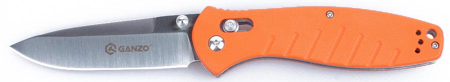 Нож туристический Ganzo, цвет: оранжевый, стальной, длина лезвия 8,9 см. G73831-002886Аккуратный и качественный нож Ganzo необходим буквально каждому, кто предпочитает отдыхать активно. Ведь он понадобится и на рыбалке, и во время занятий экстремальными видами спорта, и просто на пикнике. Нож вполне подойдет для всех этих целей.Чтобы выдержать эксплуатацию в таких жестких условиях, какие предполагает отдых на природе, нож должен быть собран из самых качественных комплектующих. Так, клинок выполнен из нержавейки, которая нашла широкое применение в этой отрасли. Марка 440С содержит в составе целый ряд легирующих добавок, которые позволяют улучшить ее свойства, повысить стойкость к ржавлению и способность оставаться остро заточенной. Геометрия клинка грамотно продумана. Это drop point с пониженной линией обуха. Острие клинка немного приподнято, за счет чего режущая кромка фактически удлиняется. Заточка ножа ровная и ее легко подновить, используя самую обычную карманную точилку. Что касается габаритов клинка, то это длина 8,9 см, позволяющая легко использовать нож для чистки рыбы, приготовления бутербродов, и толщина 3,3 мм.В каждом из крайних положений (открытый и сложенный нож) лезвие хорошо фиксируется. Этому способствует использование замка Axis-Lock. В нем применяется небольшой металлический штифт, который и определяет положение клинка. Разблокировать такой замок можно даже одной рукой, что является несомненным преимуществом для туристов и охотников.Для рукоятки был выбран стеклопластик марки G10. Он заслужил доверие производителей и покупателей ножей благодаря невосприимчивости к коррозии и прочности. По этим признакам G10 существенно превосходит другие виды пластиков. Рукоятка ножа имеет удобные размеры и форму. Ее поверхность не гладкая, а текстурирована, к тому же, выскальзыванию рукоятки препятствуют длинные выемки в нижней части рукоятки. Они же служат декоративным элементом в общем дизайне. Длина лезвия: 8,9 см.Толщина обуха: 0,33 см.Общая длина ножа: 21 см.