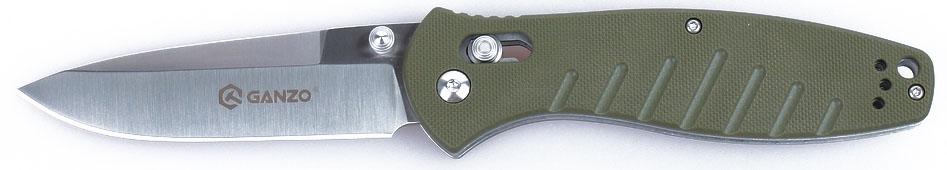 Нож туристический Ganzo, цвет: зеленый, стальной, длина лезвия 8,9 см. G738CS/49KSTАккуратный и качественный нож Ganzo необходим буквально каждому, кто предпочитает отдыхать активно. Ведь он понадобится и на рыбалке, и во время занятий экстремальными видами спорта, и просто на пикнике. Нож вполне подойдет для всех этих целей.Чтобы выдержать эксплуатацию в таких жестких условиях, какие предполагает отдых на природе, нож должен быть собран из самых качественных комплектующих. Так, клинок выполнен из нержавейки, которая нашла широкое применение в этой отрасли. Марка 440С содержит в составе целый ряд легирующих добавок, которые позволяют улучшить ее свойства, повысить стойкость к ржавлению и способность оставаться остро заточенной. Геометрия клинка грамотно продумана. Это drop point с пониженной линией обуха. Острие клинка немного приподнято, за счет чего режущая кромка фактически удлиняется. Заточка ножа ровная и ее легко подновить, используя самую обычную карманную точилку. Что касается габаритов клинка, то это длина 8,9 см, позволяющая легко использовать нож для чистки рыбы, приготовления бутербродов, и толщина 3,3 мм.В каждом из крайних положений (открытый и сложенный нож) лезвие хорошо фиксируется. Этому способствует использование замка Axis-Lock. В нем применяется небольшой металлический штифт, который и определяет положение клинка. Разблокировать такой замок можно даже одной рукой, что является несомненным преимуществом для туристов и охотников.Для рукоятки был выбран стеклопластик марки G10. Он заслужил доверие производителей и покупателей ножей благодаря невосприимчивости к коррозии и прочности. По этим признакам G10 существенно превосходит другие виды пластиков. Рукоятка ножа имеет удобные размеры и форму. Ее поверхность не гладкая, а текстурирована, к тому же, выскальзыванию рукоятки препятствуют длинные выемки в нижней части рукоятки. Они же служат декоративным элементом в общем дизайне. Длина лезвия: 8,9 см.Толщина обуха: 0,33 см.Общая длина ножа: 21 см.Вес