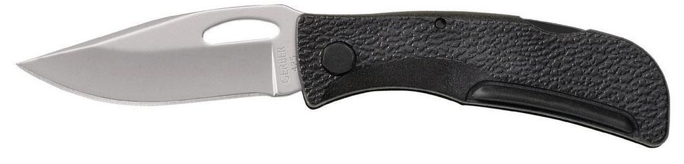 Нож туристический Gerber E-Z Out Jr06501Модель Gerber под названием E-Z Out Jr без сомнения понравится ценителям качественных карманных ножей. Она красивая, практичная, долговечная. Нож подойдет в качестве туристического инструмента или же варианта для использования в городе. Весит он всего 40 грамм.Gerber E-Z — это небольшой складной нож, подходящий как для повседневного использования, так и для поездок на природу. Он сделан из углеродистой нержавеющей стали. Благодаря легирующим добавкам, она является одновременно твердой и стойкой к ржавлению. Поэтому уход за ножом потребуется самый минимальный. Клинок в данной модели сделан формы clip point. У него хорошо сбалансированное острие и гладко заточенная (Fine Edge) кромка. В верхней части лезвия, ближе к рукоятке, имеется продолговатое отверстие для открывания ножа. Кстати, открыть нож можно обеими или одной рукой. Размер клинка составляет только 6 см, но он в состоянии выполнить все основные работы. В открытом положении его удерживает замок Lock Back. Это надежный механизм на основе рычага, по форме напоминающего миниатюрное коромысло.Рукоятка ножа изготовлена из модифицированного нейлона с наполнителем из стекловолокна. Этот материал легко формуется, а потому производители придали рукоятке наиболее удобную форму. Кроме того, он прочный, не боится коррозии, не выцветает на солнце и не перегревается. Поверхность ручки слегка неровная, благодаря чему, он не выскальзывает из ладоней.Размер сложенного ножа равен 8,2 см, так что он легко поместится в кармане. Вес в 40 грамм также говорит в пользу этой модели, как элемента походного снаряжения.Особенности:складная конструкция;углеродистая нержавейка для клинка;форма лезвия — Clip point;заточка лезвия Fine Edge;возможность «однорукого» открывания;рукоятка из стеклонаполненного нейлона;замок Lock Back;нож весит 40 грамм.Гарантия: Гарантия на использование всех ножей Gerber E-Z является пожизненной.