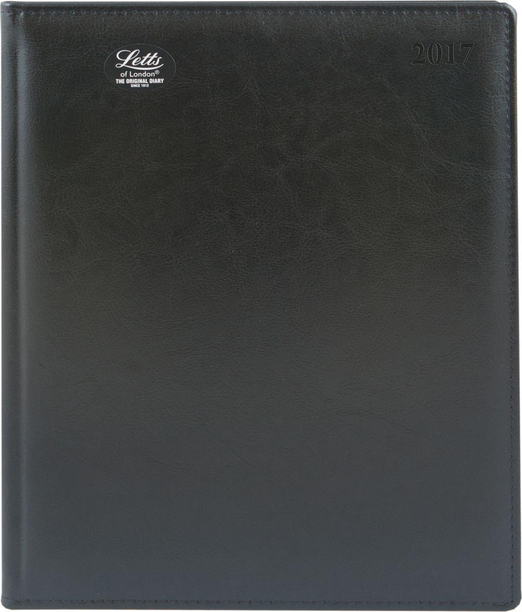 Letts Ежедневник Global Deluxe Ibiza 2017 датированный 64 листа цвет черный формат A472523WDУтонченный ежедневник Letts Global Deluxe Ibiza 2017 - идеально подойдёт настоящим ценителям английской классики.Ежедневник выполнен в твердом переплете из нежнейшей натуральной кожи черного цвета. Позолоченный срез страниц, шелковая закладка-разделитель и перфорированные уголки подчеркнут респектабельный стиль владельца.Каждая страница ежедневника имеет почасовую и календарную нумерацию. На каждый час отведено по 2 строчки, а в верхней части страницы расположены пустые столбики для самых разнообразных заметок. На первых и последних страницах ежедневника представлен информационный блок. Он включает национальные праздники, календарь с 2016 по 2021 год, график отпусков, международные торговые выставки, часовые пояса, международные коды. Также в блок информации входят меры длины веса и других величин, размеры одежды, телефонная книга и цветная карта мира.Ежедневники Letts Global Deluxe Ibiza 2017 - это солидность, стиль, респектабельность и оригинальность.