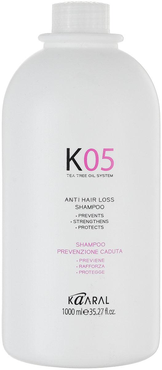 Kaaral Шампунь против выпадения волос К05 Shampoo Anticaduta, 1000 млAC-2233_серыйДля очищения кожи и запуска механизма действия терапевтического комплекса. Активные компоненты шампуня улучшают микроциркуляцию крови. Шампунь обогащен экстрактом стручкового перца, крапивы, горной арники, а также маслом чайного дерева.