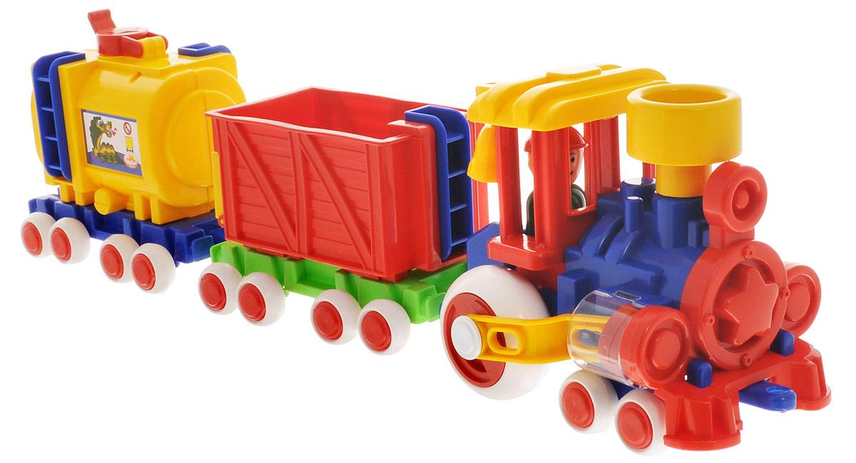 Форма Паровозик Ромашка с 2 вагонами Детский сад - Транспорт, машинки