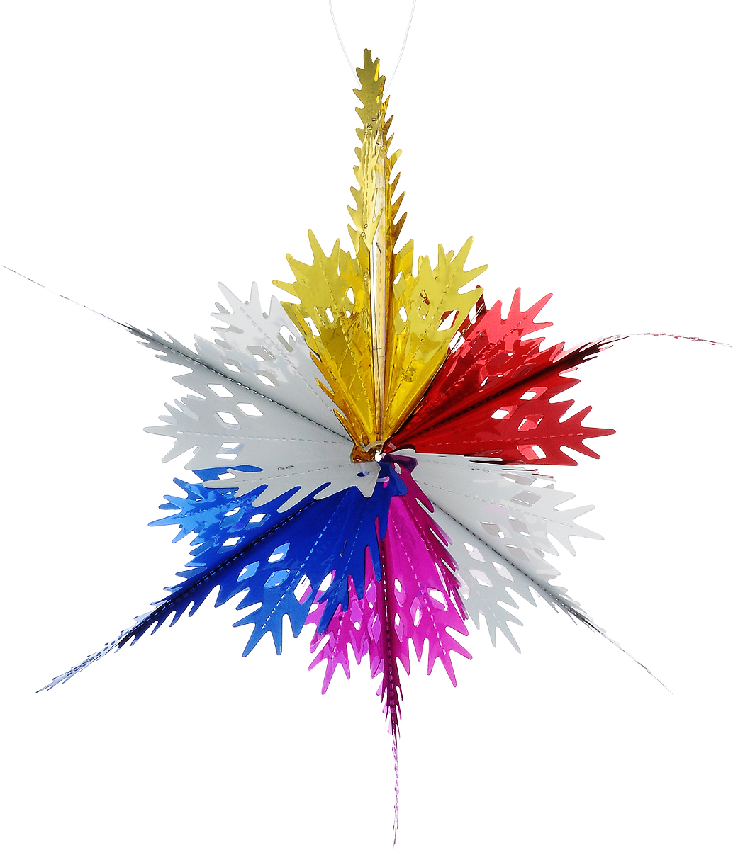 Украшение новогоднее подвесное Winter Wings Звезда, 41 х 41 х 12 смN180956Новогоднее украшение Winter Wings Звезда прекрасно подойдет для декора дома и праздничной елки. Изделие выполнено из ПВХ. С помощью специальной петельки украшение можно повесить в любом понравившемся вам месте. Легко складывается и раскладывается.Новогодние украшения несут в себе волшебство и красоту праздника. Они помогут вам украсить дом к предстоящим праздникам и оживить интерьер по вашему вкусу. Создайте в доме атмосферу тепла, веселья и радости, украшая его всей семьей.Размер украшения: 41 х 41 х 12 см.