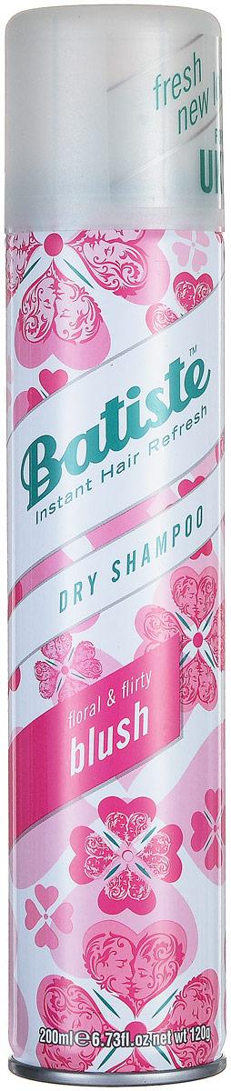 Batiste Сухой шампунь для волос Blush, с цветочно-фруктовым ароматом, 200 мл3282779357326Сухой шампунь Batiste Blush с кокетливо-цветочным ароматом быстро очищает и освежает волосы. Сухой шампунь устраняет жирность корней, придавая скучным и безжизненным волосам необходимый блеск, без использования воды. Быстро освежает и повышает силу волос, придает телу волоса и текстуру и оставляет ощущение чистоты и свежести. Сухой шампунь идеален для использования, когда:- у вас нет времени мыть голову обычным шампунем,- у вас много других дел,- ваша жизнь - сплошной круговорот событий.Сухой шампунь быстро и эффективно абсорбирует грязь и жир, тем самым очищая волосы. Способ применения: Шаг 1. Распылите сухой шампунь на волосы на расстоянии 30 см. Шаг 2. Помассируйте голову несколько минут. Во время массажных движений пальцами сухой шампунь проникает в стержень волоса, абсорбирует грязь и жир, тем самым восстанавливая его.Шаг 3. Причешитесь и ваши волосы снова мягкие и чистые.Товар сертифицирован.