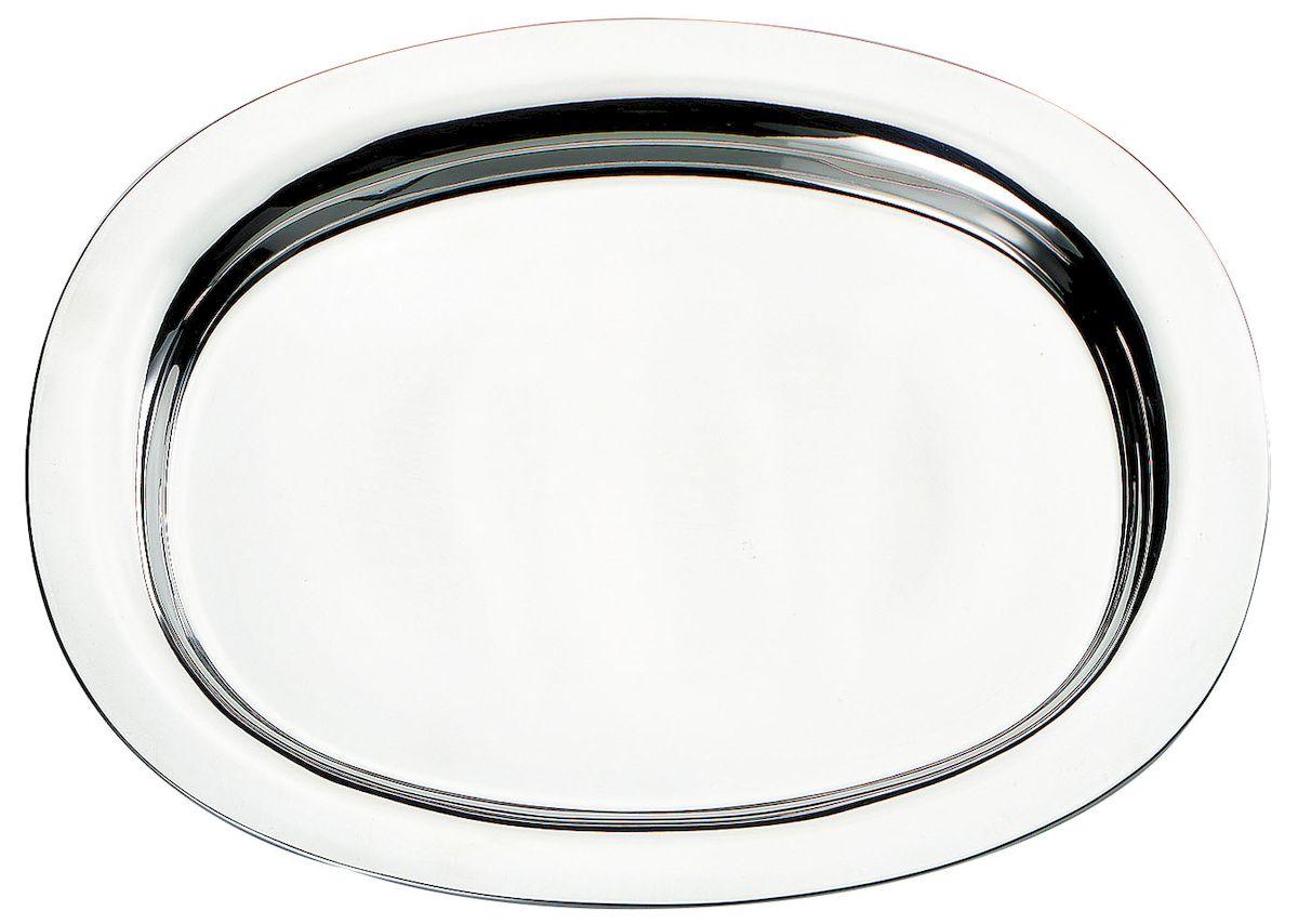 Поднос Axentia овальный, длина 30,5 см115510Овальный поднос Axentia выполнен из высококачественной нержавеющей стали. Он отлично подойдет для красивой сервировки различных блюд, закусок и фруктов на праздничном столе. Благодаря бортикам, поднос с легкостью можно переносить с места на место. Поднос Axentia займет достойное место на вашей кухне.Длина подноса: 30,5 см.