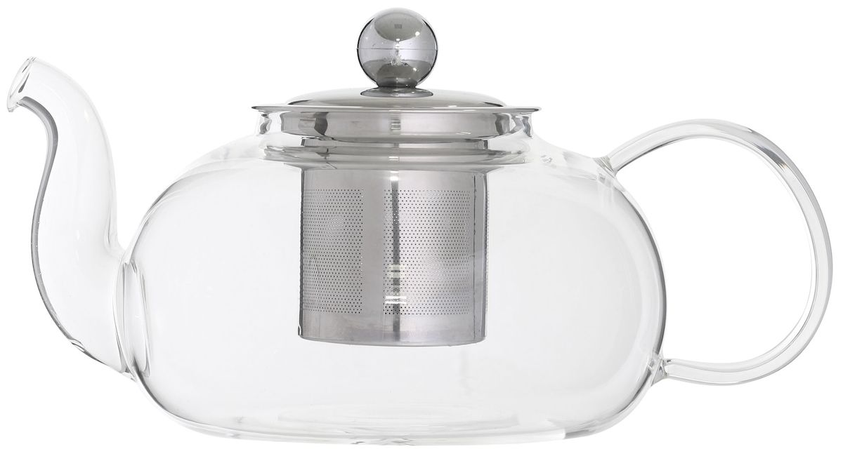 Чайник заварочный Axentia, с фильтром, 950 млVT-1520(SR)Заварочный чайник Axentia изготовлен из стекла. Этот чайник радует глаз своей оригинальным дизайном. Удобная ручка позволяет крепко держать чайник в руке. Изделие оснащено фильтром и крышкой. Простой и удобный чайник поможет вам приготовить крепкий, ароматный чай. Дизайн изделия впишется в интерьер любой кухни.Размеры чайника: 21,5 х 13,5 х 11 см.