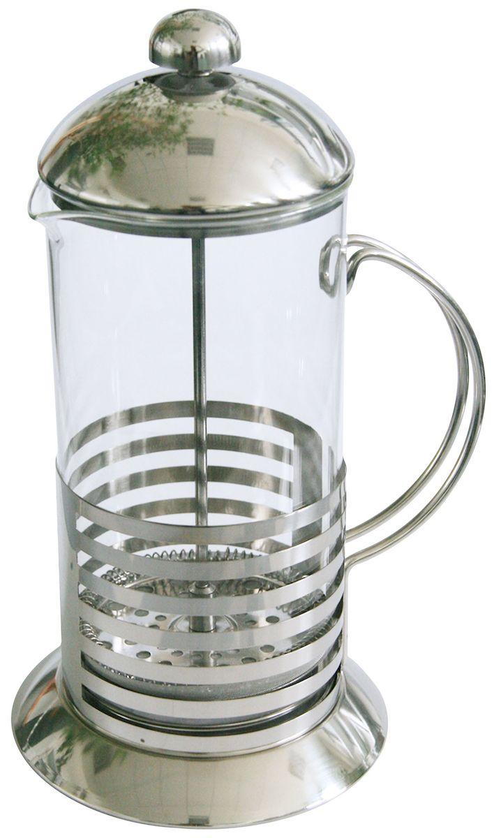 Френч-пресс Axentia Tebino, 1 лVT-1520(SR)Френч-пресс Axentia Tebino, выполненный из стекла и нержавеющей стали, практичный и простой в использовании. Засыпая чайную заварку под фильтр и заливая ее горячей водой, вы получаете ароматный чай с оптимальной крепостью и насыщенностью. Остановить процесс заварки чая легко. Для этого нужно просто опустить поршень, и заварка уйдет вниз, оставляя вверху напиток, готовый к употреблению. Современный дизайн полностью соответствует последним модным тенденциям в создании предметов бытовой техники.