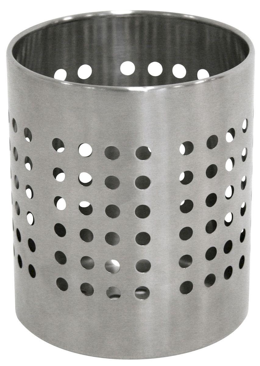 Подставка Axentia для столовых приборов, 12 х 12 х 14 смVT-1520(SR)Подставка для столовых приборов Axentia выполнена из нержавеющей стали с перфорацией. Подходит для размещения ложек, вилок, ножей и предметов кухонной утвари. Изделие для столовых приборов выполнено в оригинальном дизайне, оно не займет много места, а столовые приборы будут всегда под рукой. Диаметр поставки: 12 см. Высота подставки: 14 см.