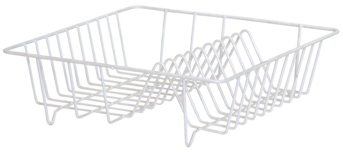 Сушилка Axentia для посуды, цвет: белый, 34 х 34 х 11 см8633Сушилка для посуды Axentia выполнена из металла с порошковым покрытием. Изделие оснащено отделением для тарелок и стаканов. Сушилку можно установить на крыло мойки, стол или в кухонный шкаф. Очень практичная и функциональная сушилка не займет много места на кухне и стильно оформит интерьер.