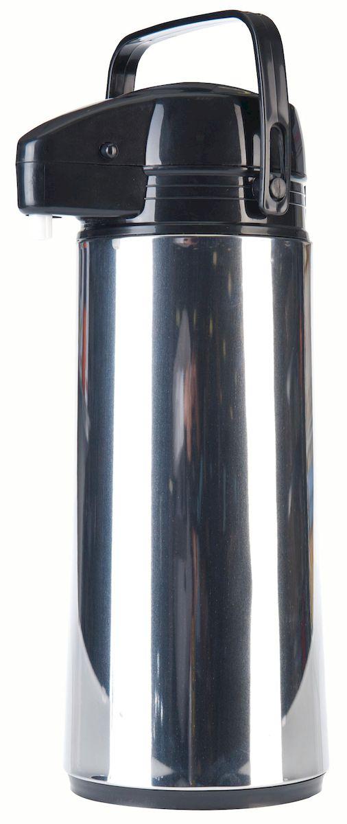 Термос Axentia Airpot, 1,9 л115010Термос Axentia Airpot, изготовленный из нержавеющей стали, оснащен внутренней стеклянной колбой с двойными стенками. Термос является простым в использовании, экономичным и многофункциональным. Изделие оснащено удобной ручкой и носиком для слива жидкости. Термос предназначен для хранения горячих и холодных напитков (чая, кофе) и укомплектован крышкой с кнопкой. Такая крышка удобна в использовании и позволяет, не отвинчивая ее, наливать напитки после простого нажатия. Легкий и прочный термос Axentia Airpot сохранит ваши напитки горячими или холодными надолго.
