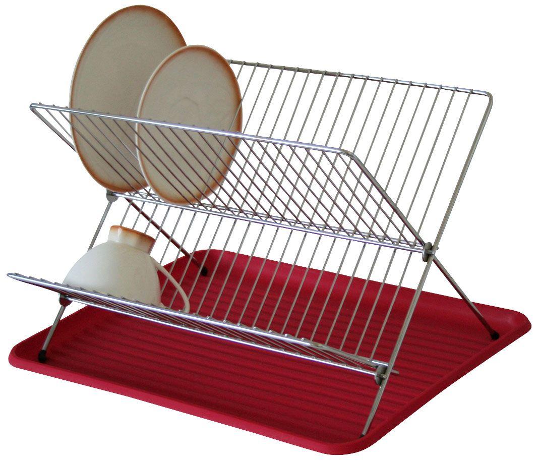 Сушилка Axentia для посуды, с поддоном, 40 х 34,5 х 27 смIMF0304-A194ALСушилка для посуды Axentia выполнена из никелированной стали. Изделие Х-образной формы оснащено пластиковым лотком для сбора стекающей воды. Подходит для тарелок различных размеров, чашек и другой посуды. Сушилку можно установить на крыло мойки, стол или в кухонный шкаф. Очень практичная и функциональная сушилка не займет много места на кухне и стильно оформит интерьер.
