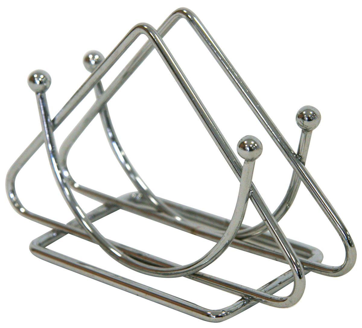 Салфетница настольная Top Star, 13 х 9 см. 702895115510Салфетница настольная Top Star из хромированной стали. Размер 13 х 9 см.