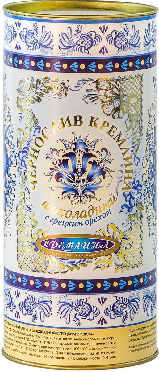 Кремлина Гжель чернослив в шоколаде с грецким орехом, 250 г4607039270297Чернослив в шоколаде с грецким орехом Кремлина - прекрасный комплимент в стиле русского народного промысла Гжель, который даст вам возможность сделать подарок оригинальным и запоминающимся.